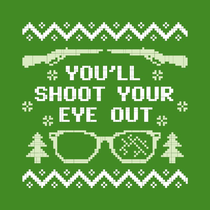 Shoot Your Eye Out Funny Christmas Sweater Men's V-Neck by Detour Shirt's Artist Shop