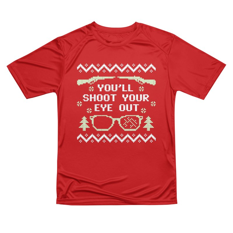 Shoot Your Eye Out Funny Christmas Sweater Men's T-Shirt by Detour Shirt's Artist Shop