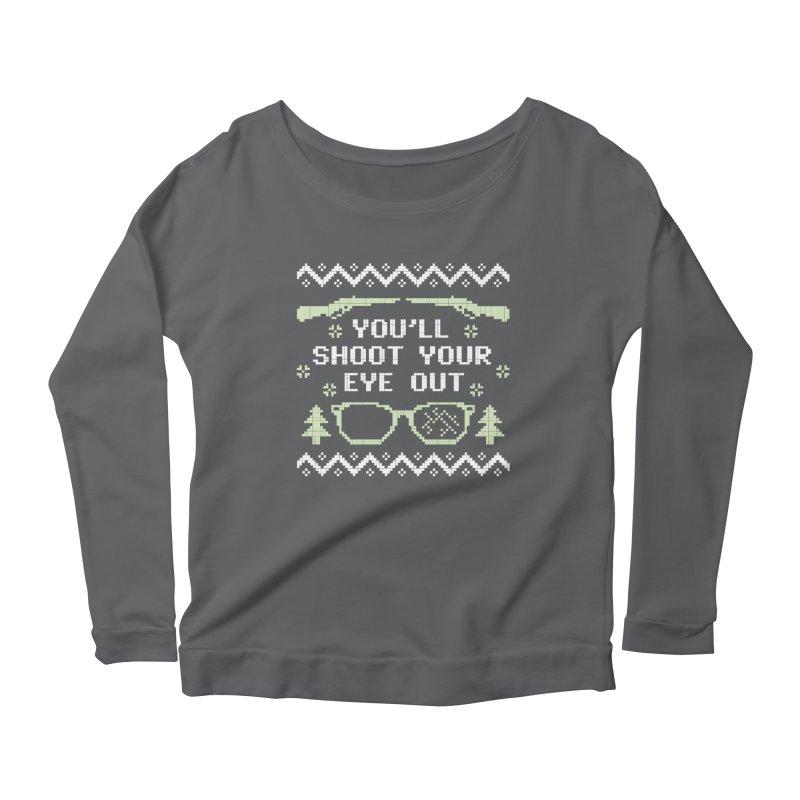 Shoot Your Eye Out Funny Christmas Sweater Women's Longsleeve T-Shirt by Detour Shirt's Artist Shop