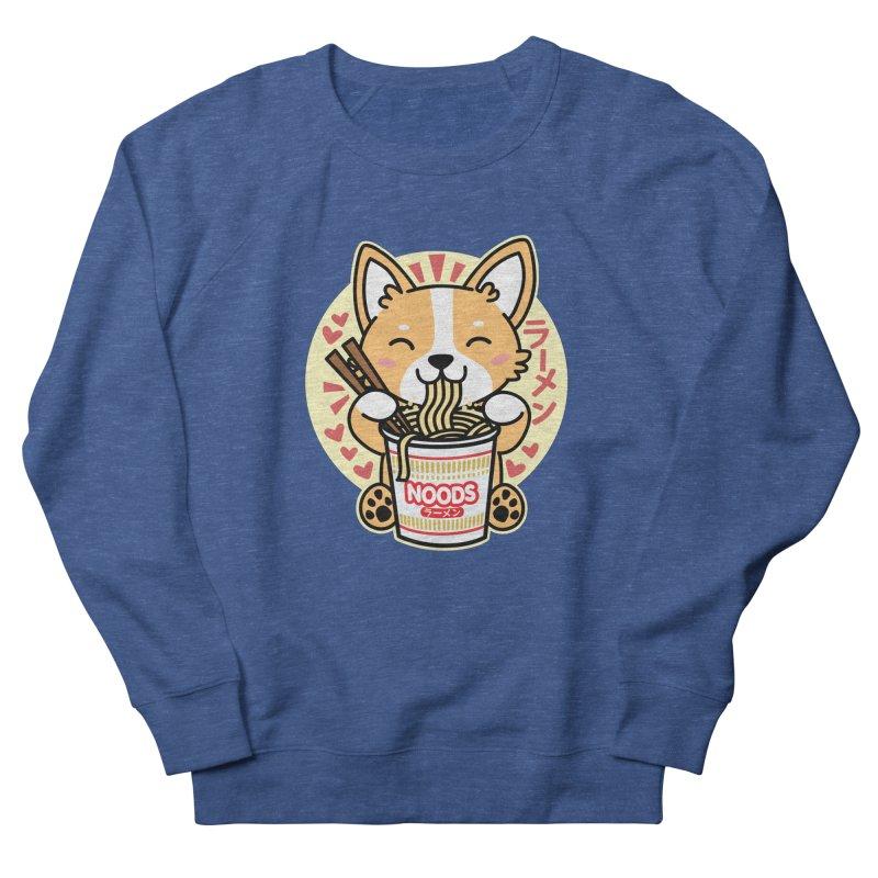 Corgi Eating Instant Noodles Men's Sweatshirt by Detour Shirt's Artist Shop