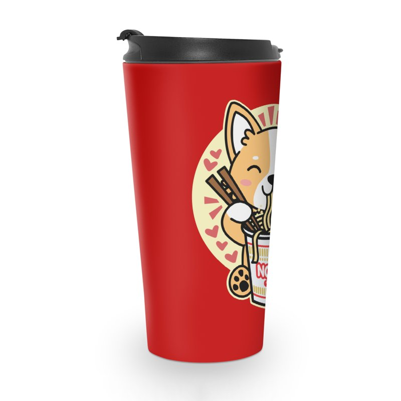 Corgi Eating Instant Noodles Accessories Mug by Detour Shirt's Artist Shop
