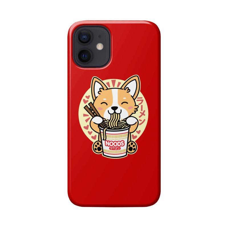 Corgi Eating Instant Noodles Accessories Phone Case by Detour Shirt's Artist Shop