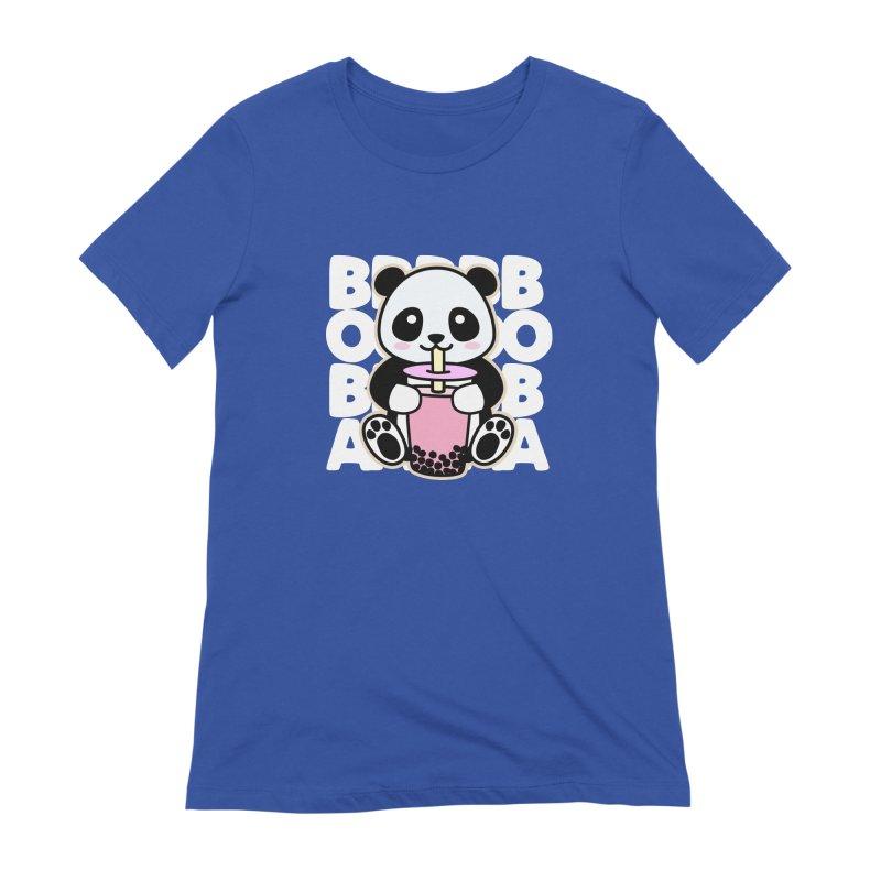 Panda Drinking Boba Women's T-Shirt by Detour Shirt's Artist Shop