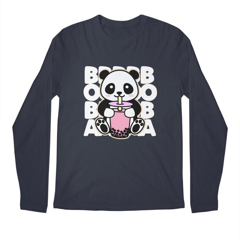 Panda Drinking Boba Men's Longsleeve T-Shirt by Detour Shirt's Artist Shop