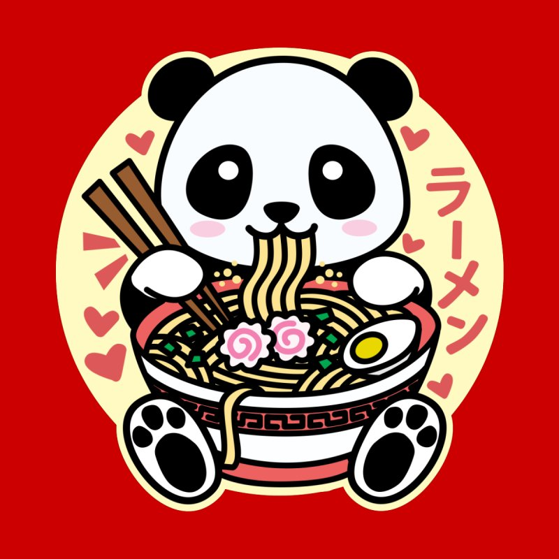 Panda Eating Ramen Kids Longsleeve T-Shirt by Detour Shirt's Artist Shop