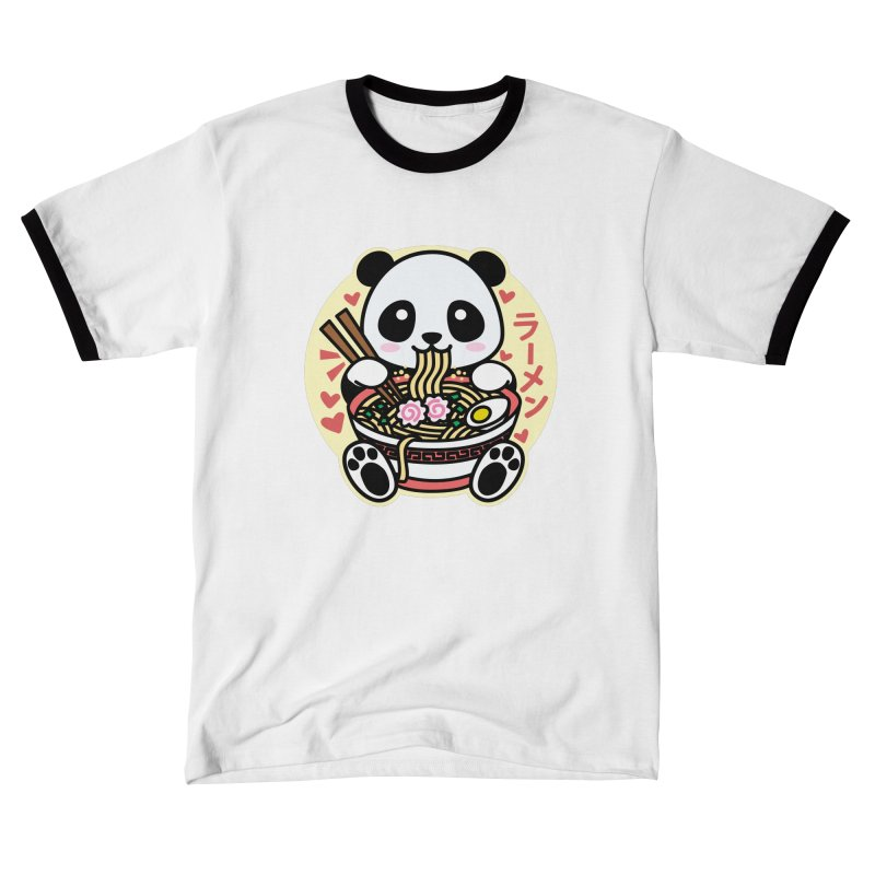 Panda Eating Ramen Women's T-Shirt by Detour Shirt's Artist Shop