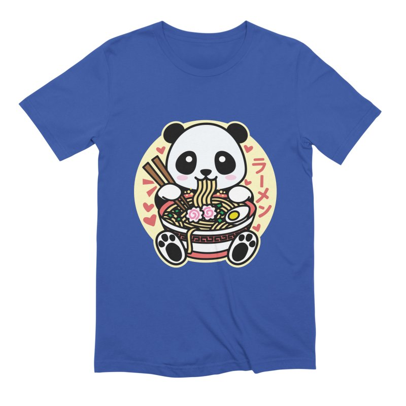 Panda Eating Ramen Men's T-Shirt by Detour Shirt's Artist Shop