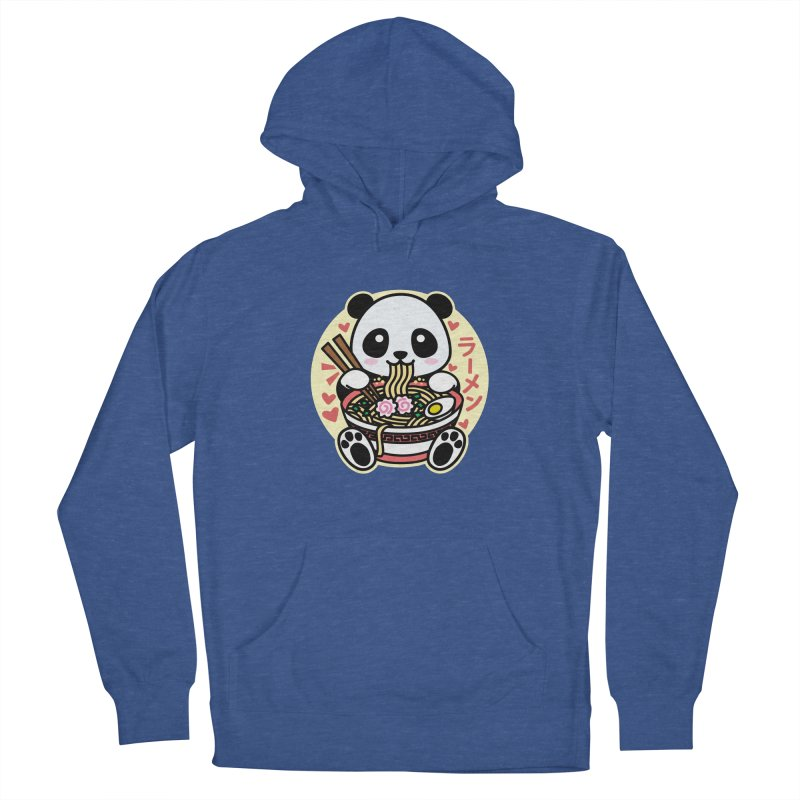 Panda Eating Ramen Men's Pullover Hoody by Detour Shirt's Artist Shop