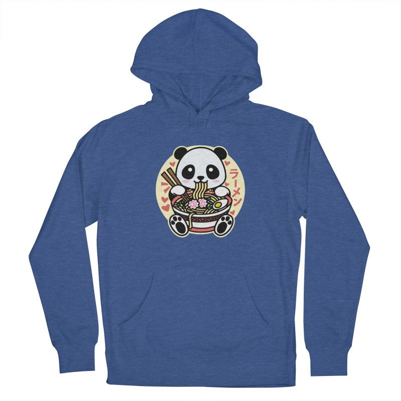 Panda Eating Ramen Women's Pullover Hoody by Detour Shirt's Artist Shop