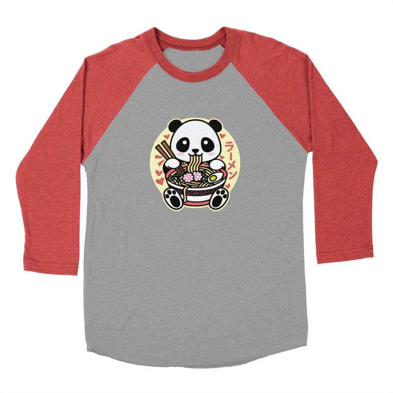 Panda Eating Ramen Women's Longsleeve T-Shirt by Detour Shirt's Artist Shop