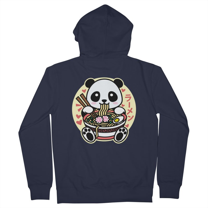 Panda Eating Ramen Women's Zip-Up Hoody by Detour Shirt's Artist Shop