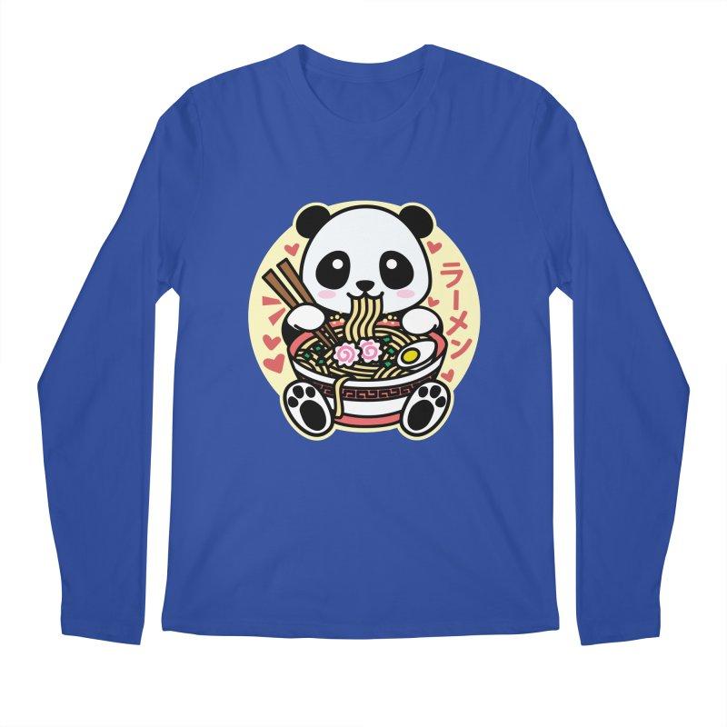 Panda Eating Ramen Men's Longsleeve T-Shirt by Detour Shirt's Artist Shop