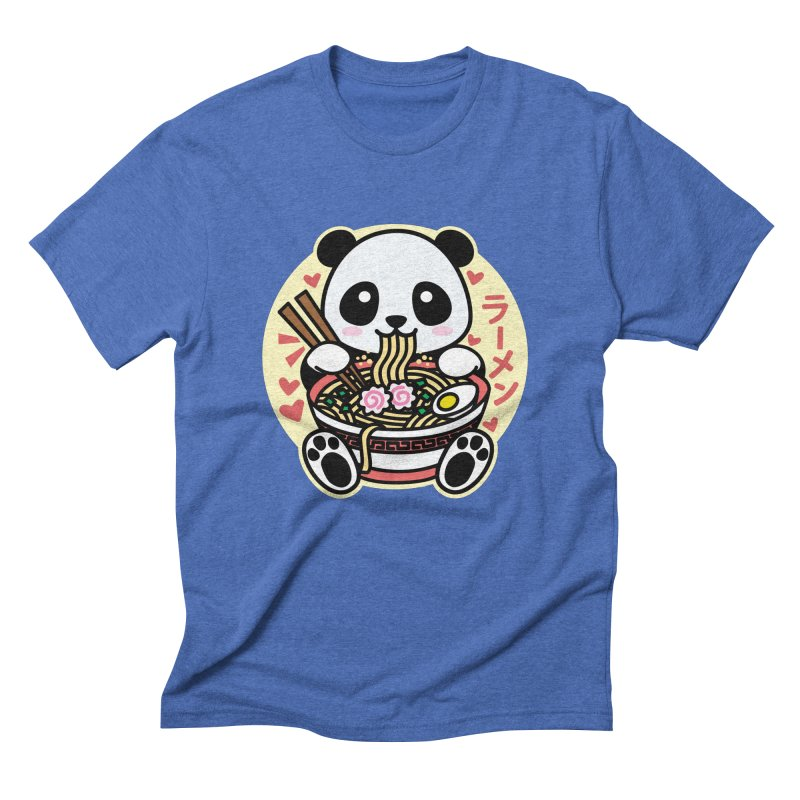 Panda Eating Ramen Men's T-Shirt by Detour Shirt's Artist Shop