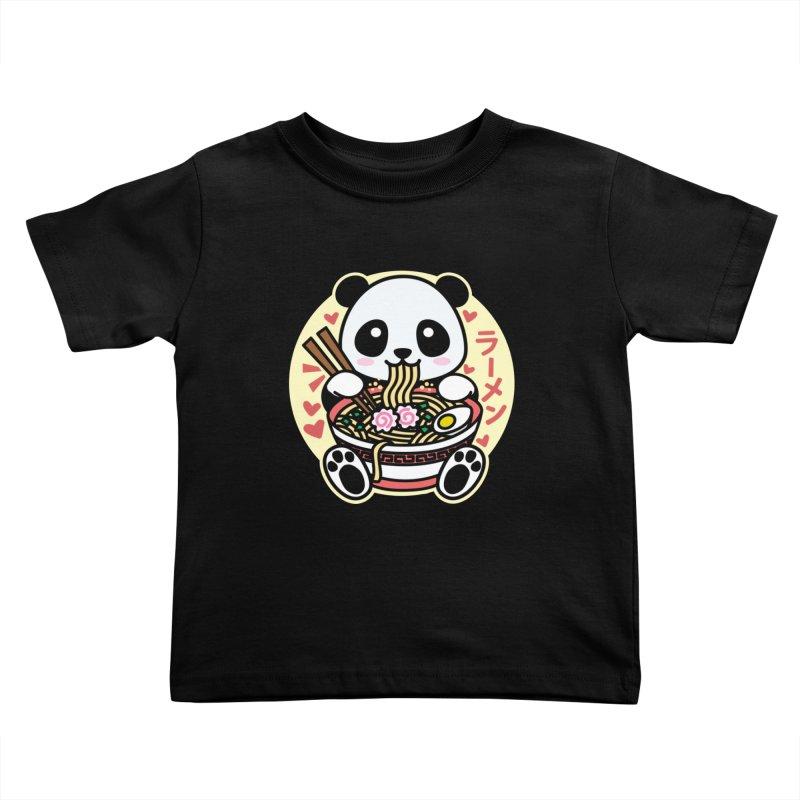 Panda Eating Ramen Kids Toddler T-Shirt by Detour Shirt's Artist Shop