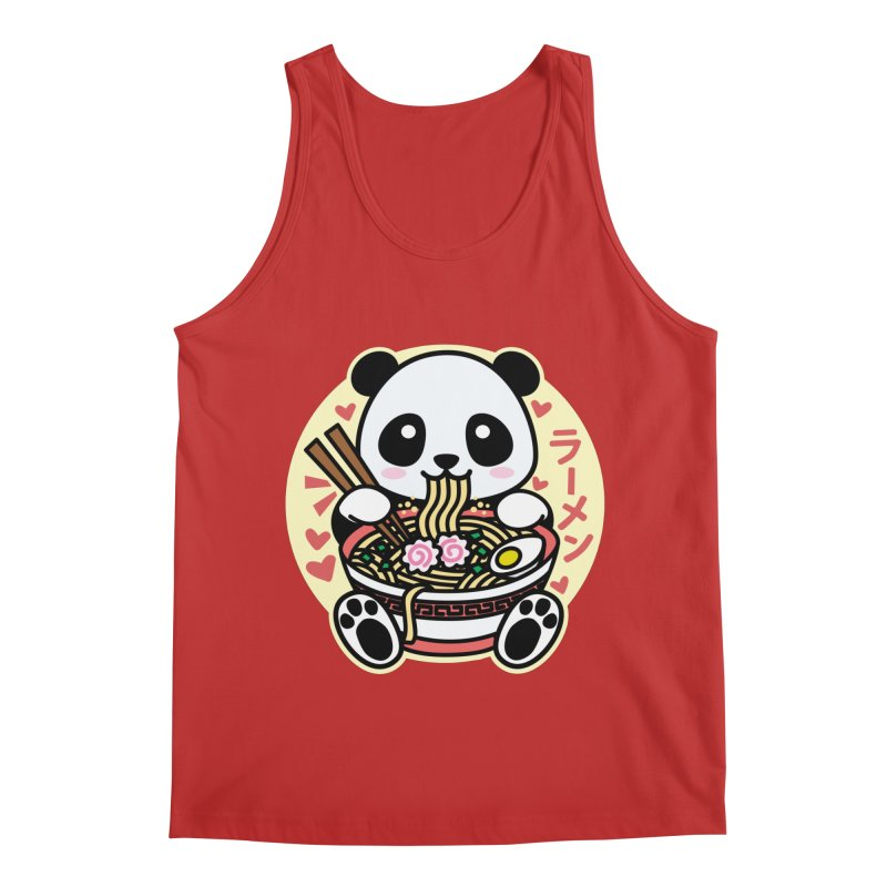 Panda Eating Ramen Men's Tank by Detour Shirt's Artist Shop