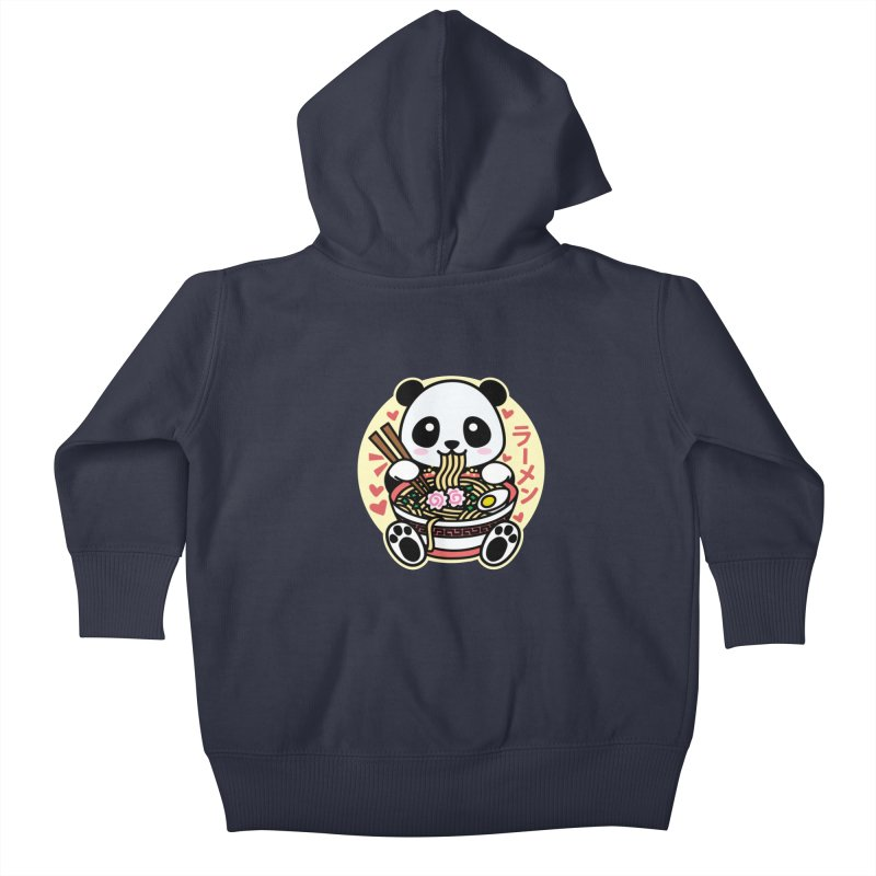 Panda Eating Ramen Kids Baby Zip-Up Hoody by Detour Shirt's Artist Shop