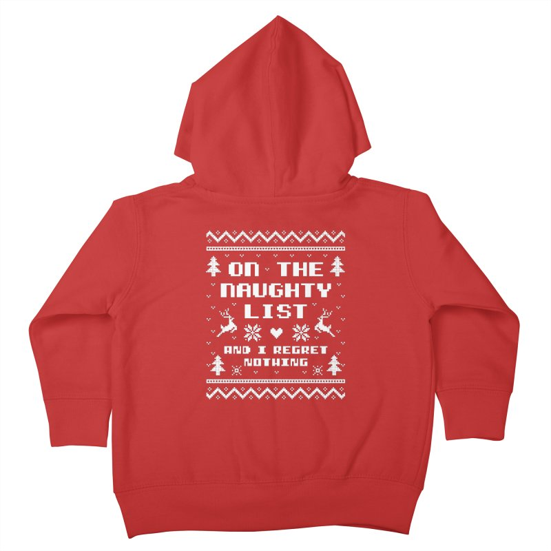On the Naughty List Ugly Christmas Sweater Kids Toddler Zip-Up Hoody by Detour Shirt's Artist Shop