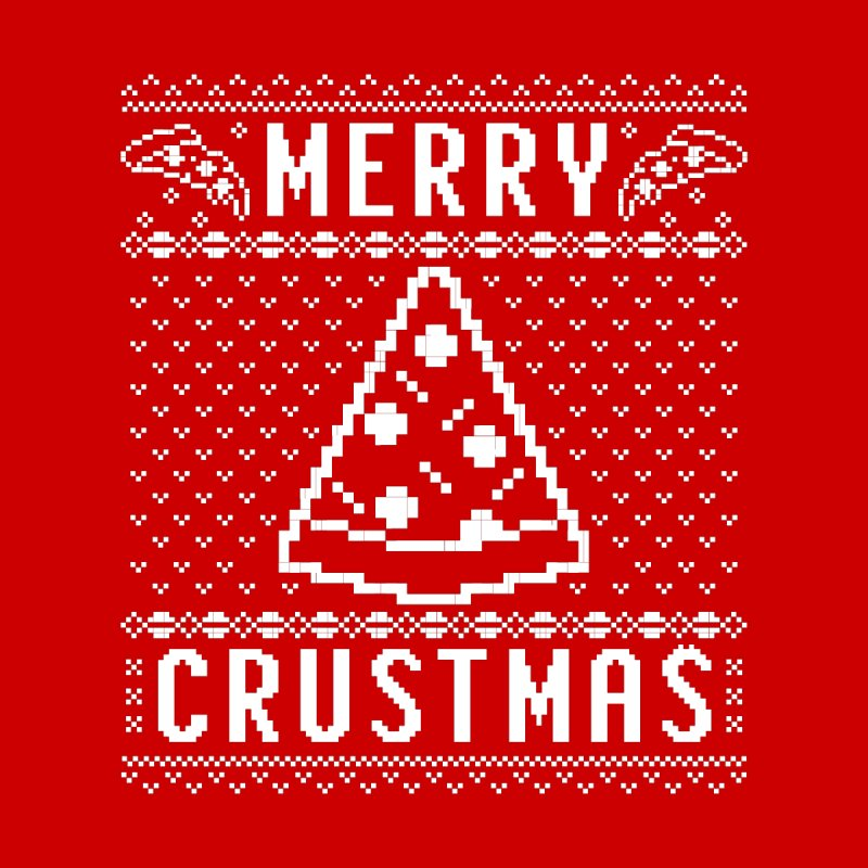 Merry Crustmas Pizza Christmas Sweater Design Men's Longsleeve T-Shirt by Detour Shirt's Artist Shop