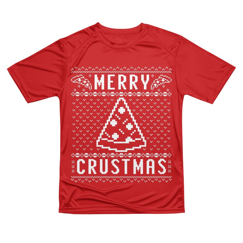 Merry Crustmas Pizza Christmas Sweater Design Men's T-Shirt by Detour Shirt's Artist Shop