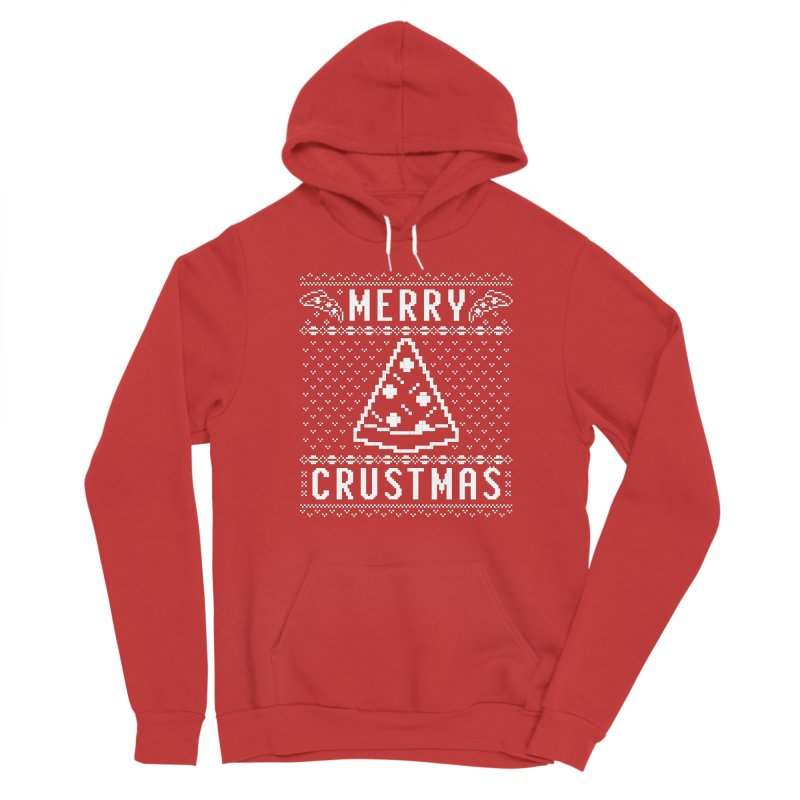 Merry Crustmas Pizza Christmas Sweater Design Men's Pullover Hoody by Detour Shirt's Artist Shop