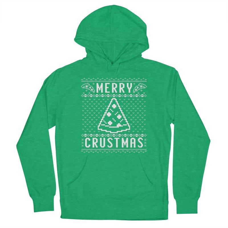 Merry Crustmas Pizza Christmas Sweater Design Women's Pullover Hoody by Detour Shirt's Artist Shop