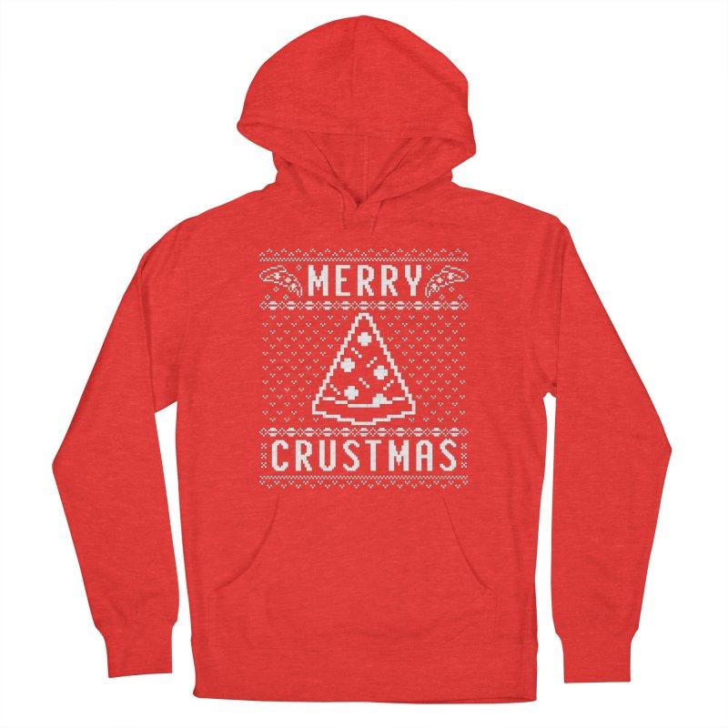 Merry Crustmas Pizza Christmas Sweater Design Men's Pullover Hoody by Detour Shirt's Artist Shop