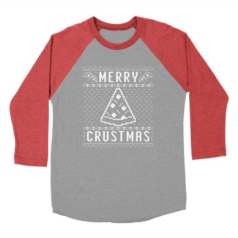 Merry Crustmas Pizza Christmas Sweater Design Men's Longsleeve T-Shirt by Detour Shirt's Artist Shop