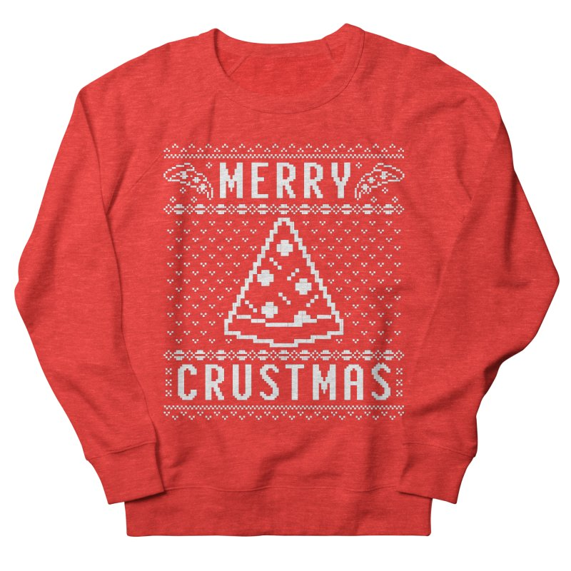 Merry Crustmas Pizza Christmas Sweater Design Women's Sweatshirt by Detour Shirt's Artist Shop