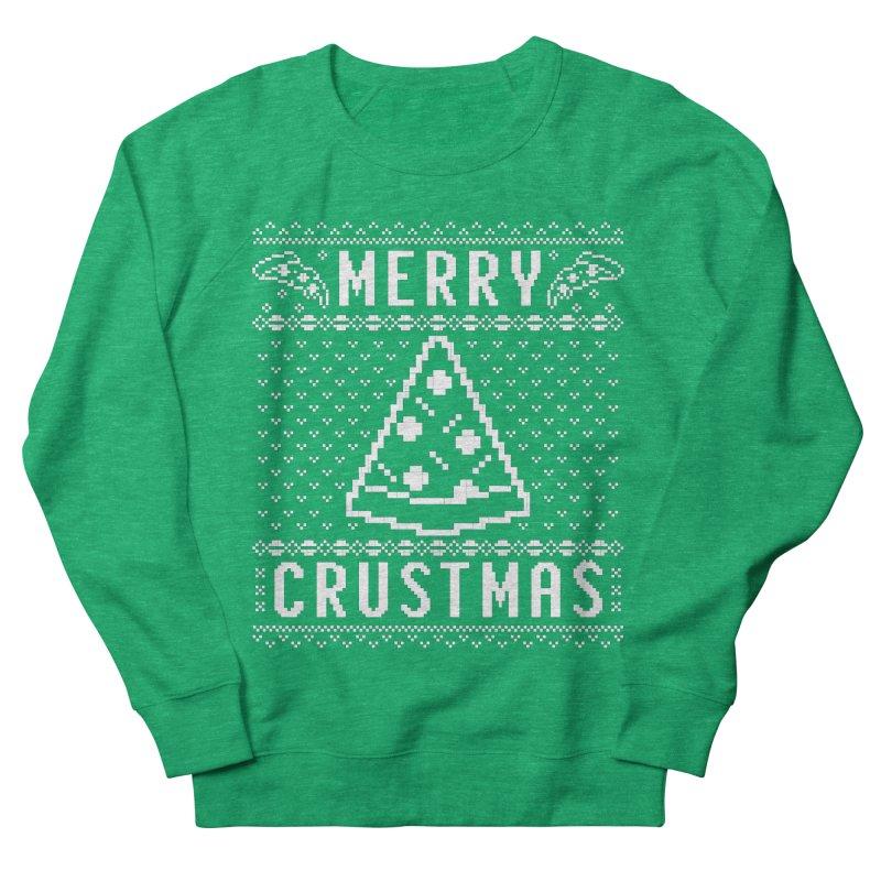 Merry Crustmas Pizza Christmas Sweater Design Men's Sweatshirt by Detour Shirt's Artist Shop