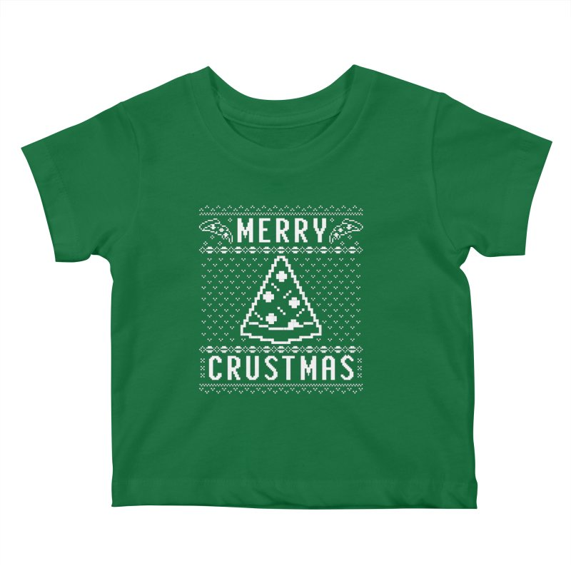 Merry Crustmas Pizza Christmas Sweater Design Kids Baby T-Shirt by Detour Shirt's Artist Shop