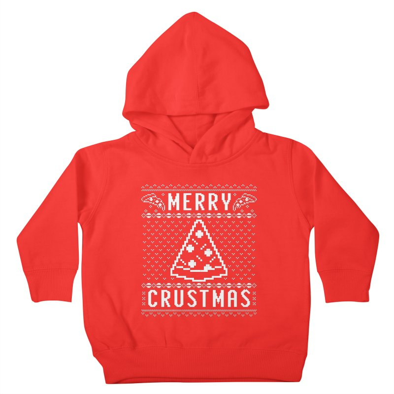Merry Crustmas Pizza Christmas Sweater Design Kids Toddler Pullover Hoody by Detour Shirt's Artist Shop