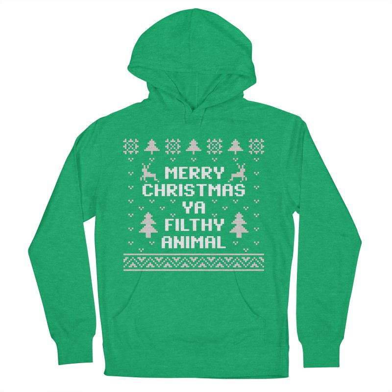 Merry Christmas Ya Filthy Animal Men's Pullover Hoody by detourshirts's Artist Shop