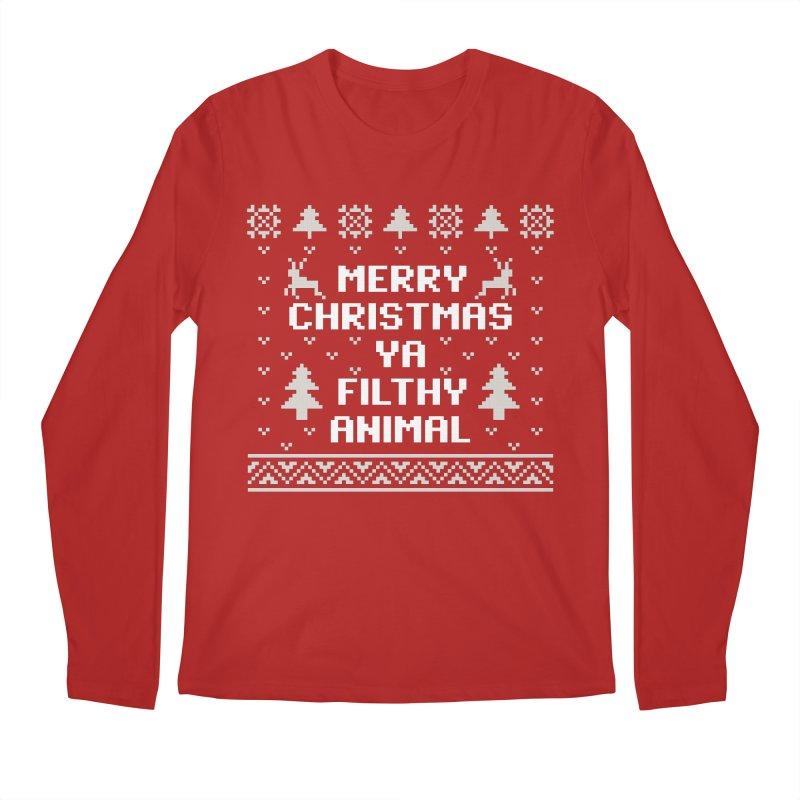 Merry Christmas Ya Filthy Animal Men's Longsleeve T-Shirt by detourshirts's Artist Shop