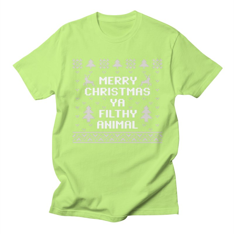 Merry Christmas Ya Filthy Animal Men's T-Shirt by detourshirts's Artist Shop