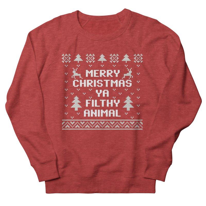 Merry Christmas Ya Filthy Animal Men's Sweatshirt by detourshirts's Artist Shop