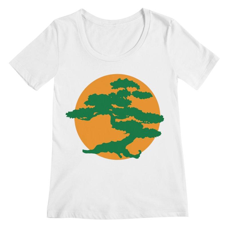Bonsai Tree Women's Scoopneck by detourshirts's Artist Shop