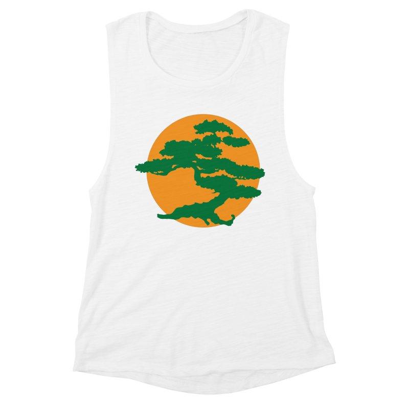Bonsai Tree Women's Muscle Tank by Detour Shirt's Artist Shop
