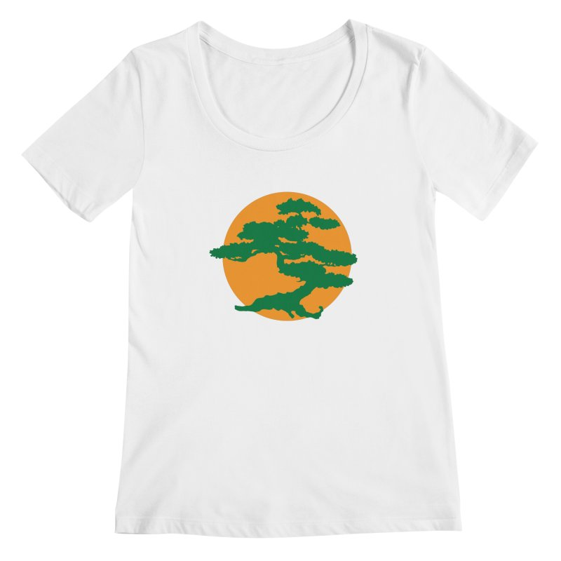 Bonsai Tree Women's Scoopneck by detourshirts's Artist Shop