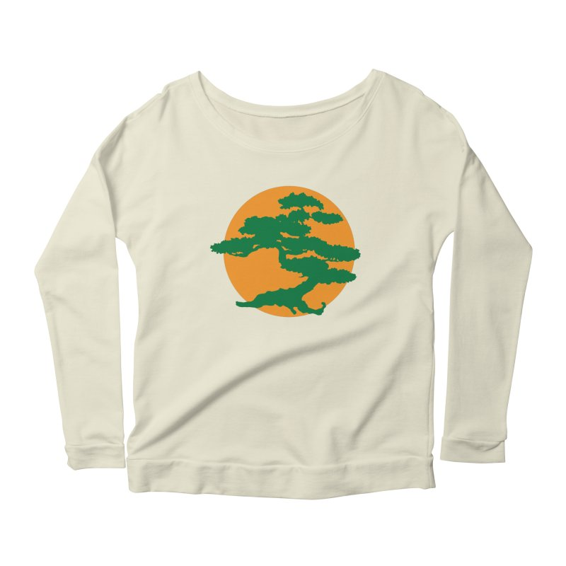 Bonsai Tree Women's Longsleeve Scoopneck  by detourshirts's Artist Shop