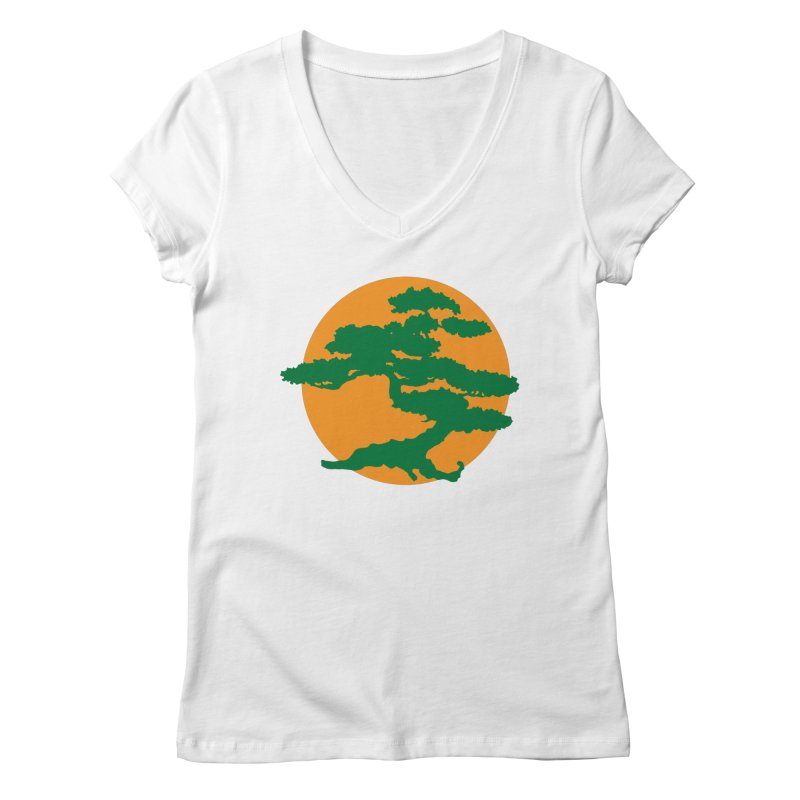 Bonsai Tree Women's V-Neck by detourshirts's Artist Shop