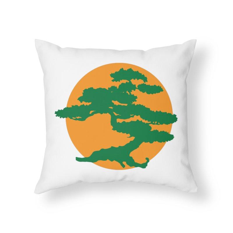 Bonsai Tree Home Throw Pillow by detourshirts's Artist Shop