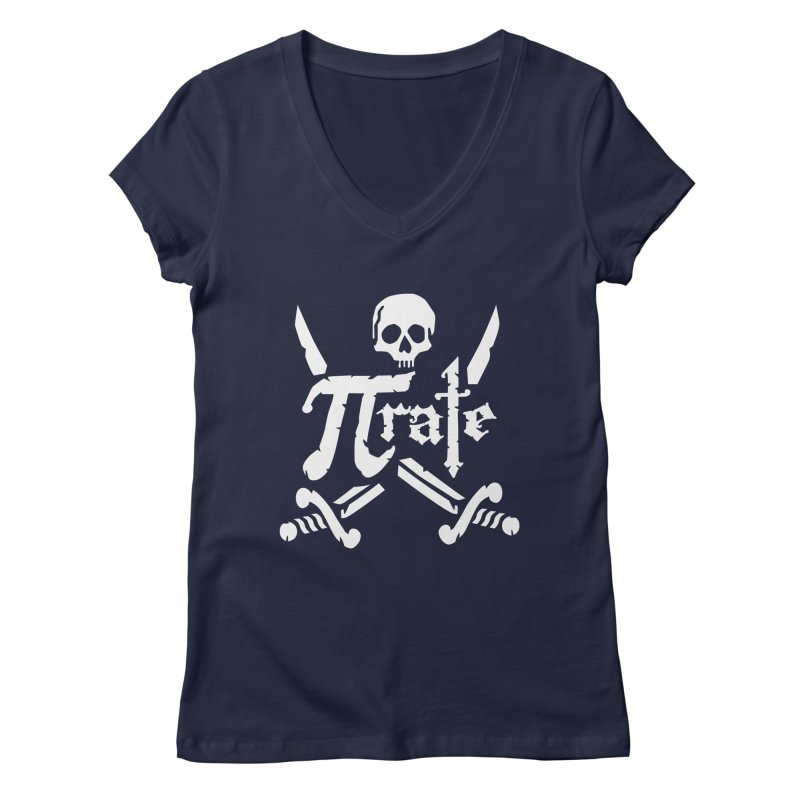 Pi Rate Women's V-Neck by detourshirts's Artist Shop