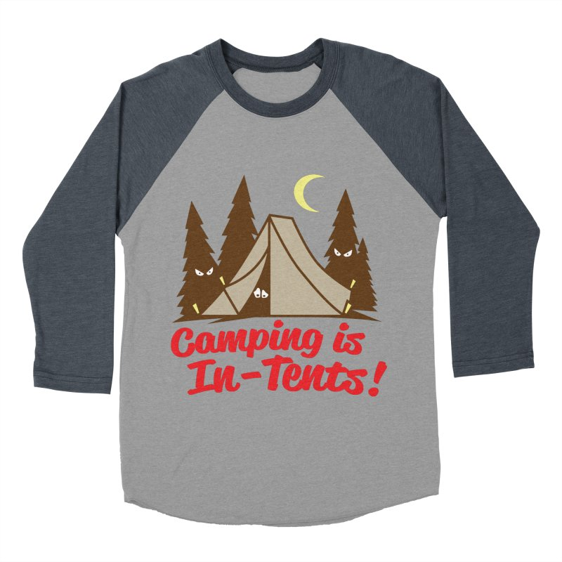 Camping Is In-Tents Men's Baseball Triblend T-Shirt by detourshirts's Artist Shop