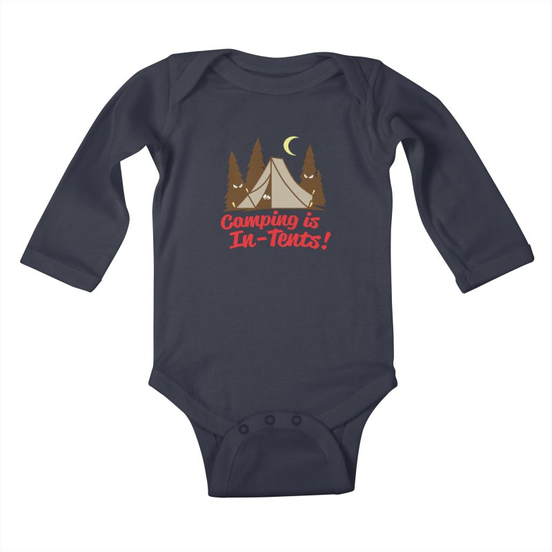 Camping Is In-Tents Kids Baby Longsleeve Bodysuit by detourshirts's Artist Shop