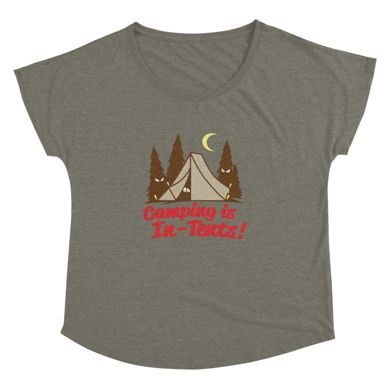 Camping Is In-Tents Women's Dolman by detourshirts's Artist Shop