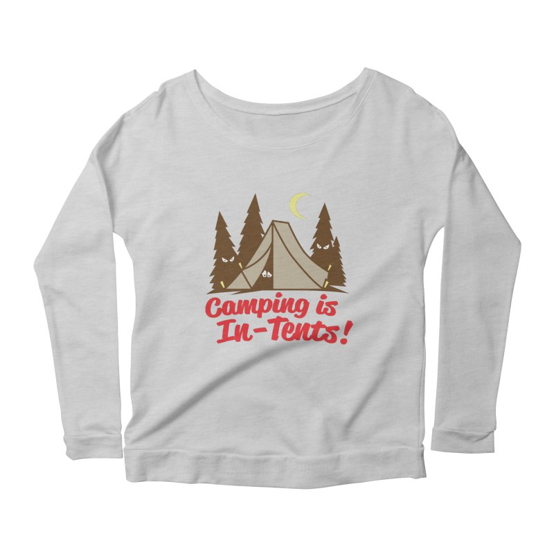 Camping Is In-Tents Women's Longsleeve Scoopneck  by detourshirts's Artist Shop