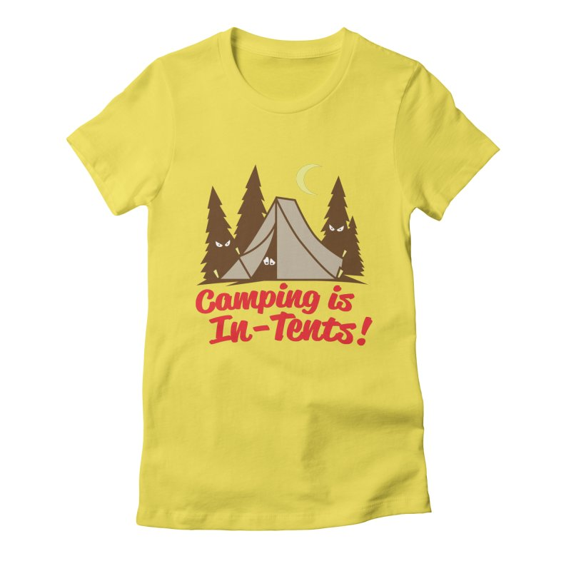 Camping Is In-Tents Women's Fitted T-Shirt by detourshirts's Artist Shop