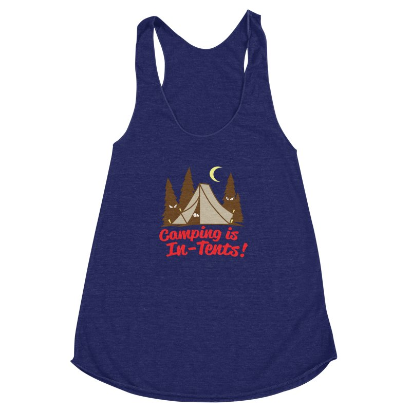 Camping Is In-Tents Women's Racerback Triblend Tank by detourshirts's Artist Shop