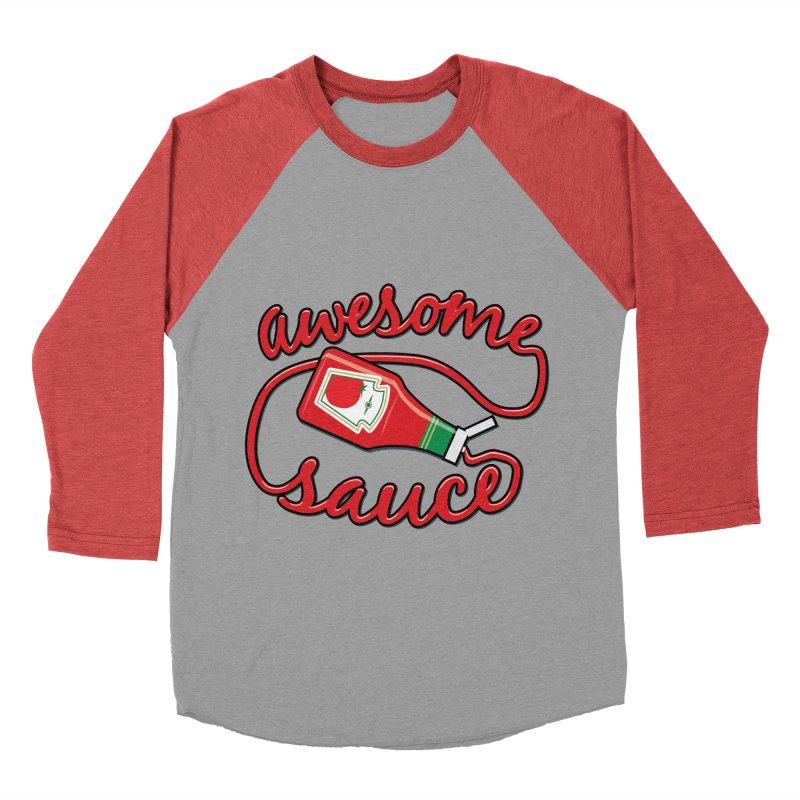 Awesome Sauce Men's Baseball Triblend T-Shirt by detourshirts's Artist Shop