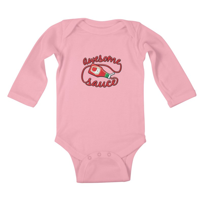 Awesome Sauce Kids Baby Longsleeve Bodysuit by detourshirts's Artist Shop